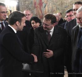 Wizyta Emmanuela Macrona pod Wawelem